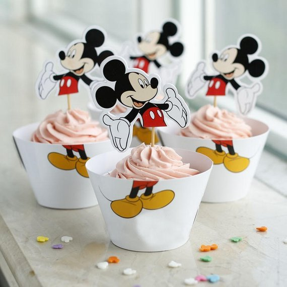 Mickey Mouse party supplies - Cupcake Toppers and Wrappers | CatchMyParty.com