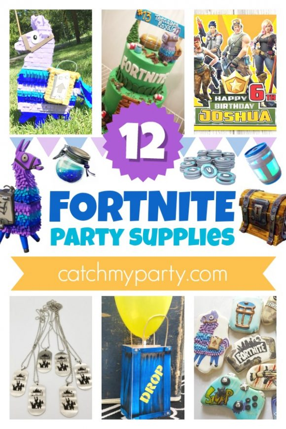 Take a look at the 12 best Fortnite Party Supplies! | CatchMyParty.com