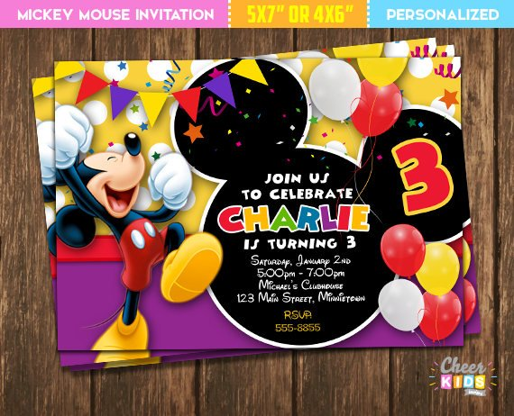 Mickey Mouse party invitation | CatchMyParty.com