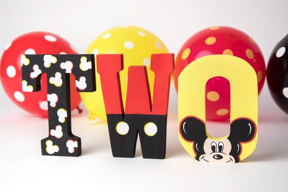 Mickey Mouse party supplies - Decorative Letters | CatchMyParty.com