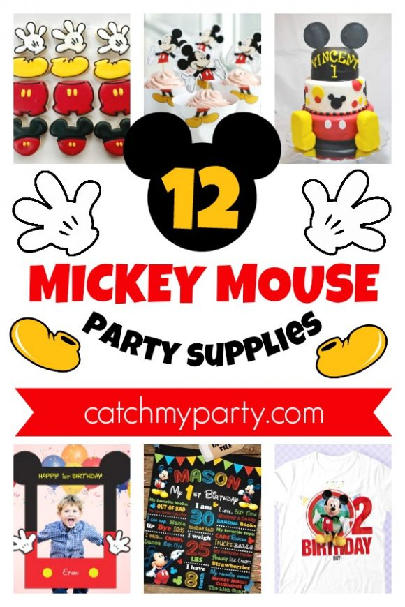 Have the Best Party Ever with These 12 Fun Mickey Mouse Party Supplies! | CatchMyParty.com