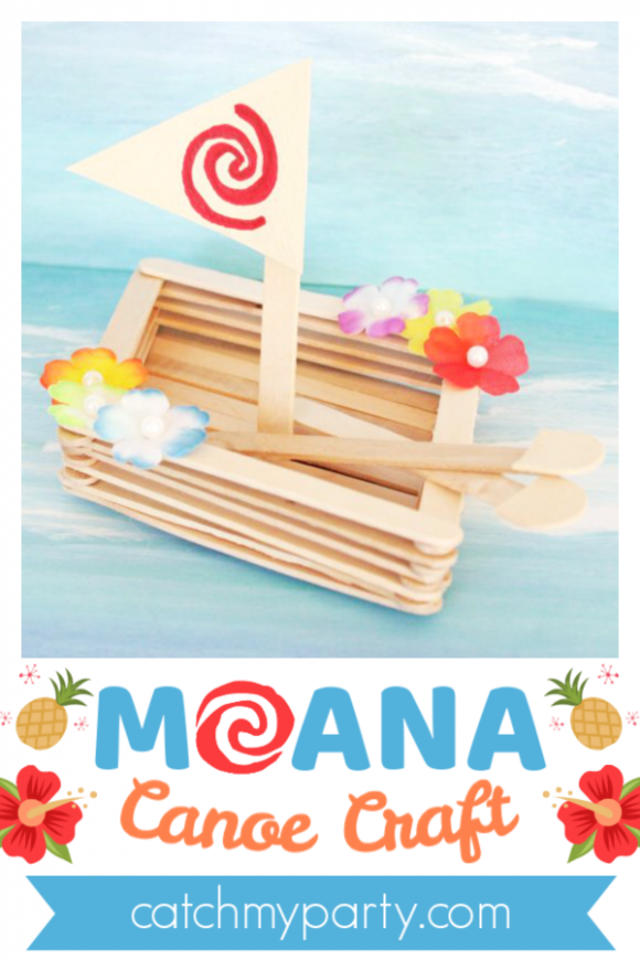 Learn How to Make a Wonderful Moana Canoe Craft | CatchMyParty.com
