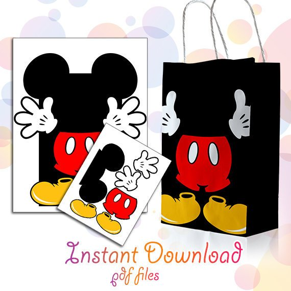 Mickey Mouse party supplies -party favor bag | CatchMyParty.com