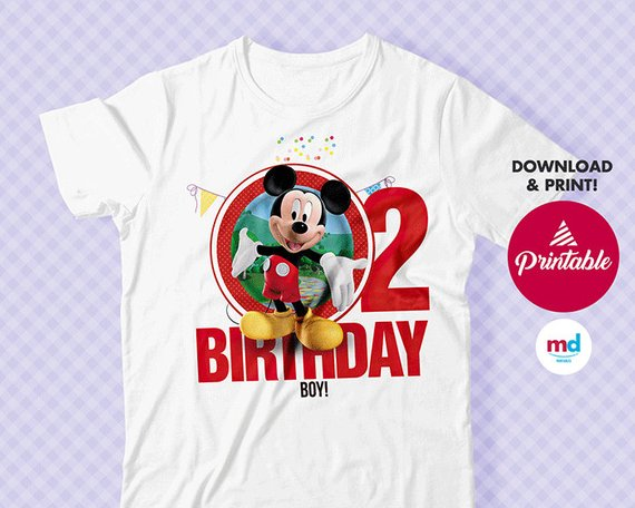 Mickey Mouse party supplies - Birthday Tshirt | CatchMyParty.com