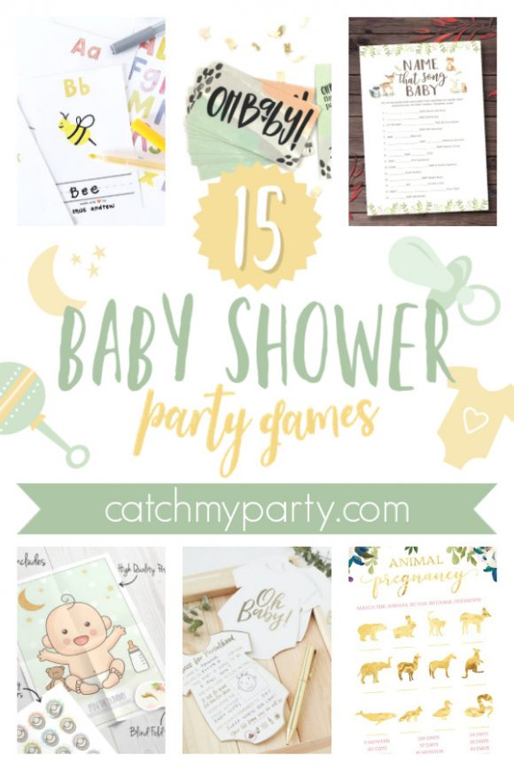 Check out the Best Baby Shower Party Games out There! | CatchMyParty.com