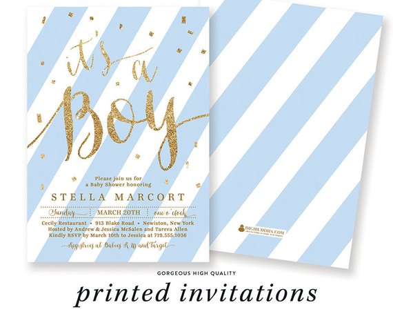 Blue Baby Shower Invitation | CatchMyParty.com