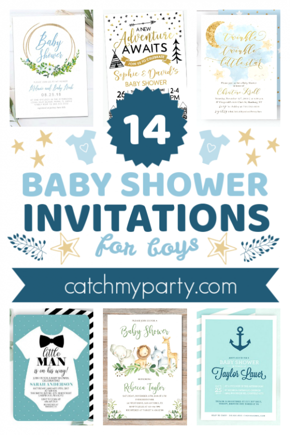 The 14 Most Adorable Baby Shower Invitations for Boys | CatchMyParty.com