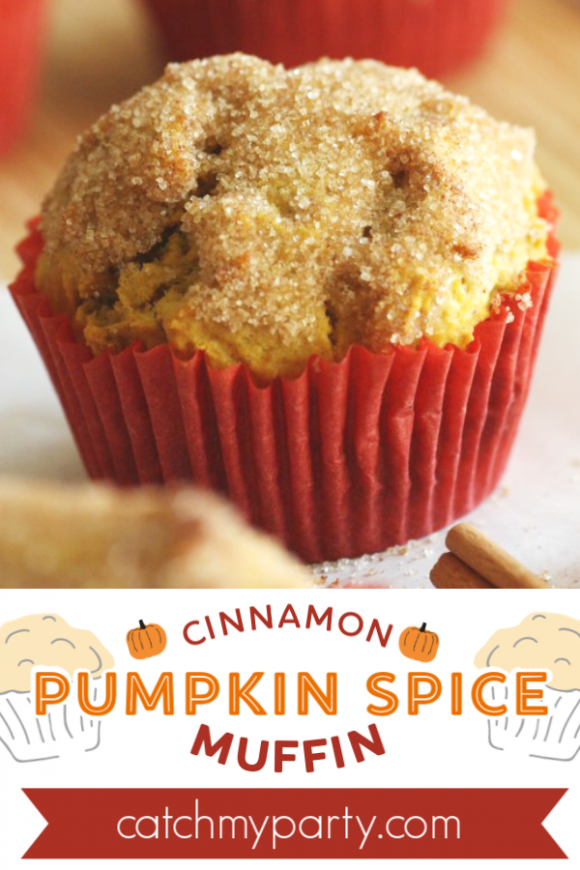 Cinnamon Pumpkin Spice Muffin Recipe | CatchMyParty.com