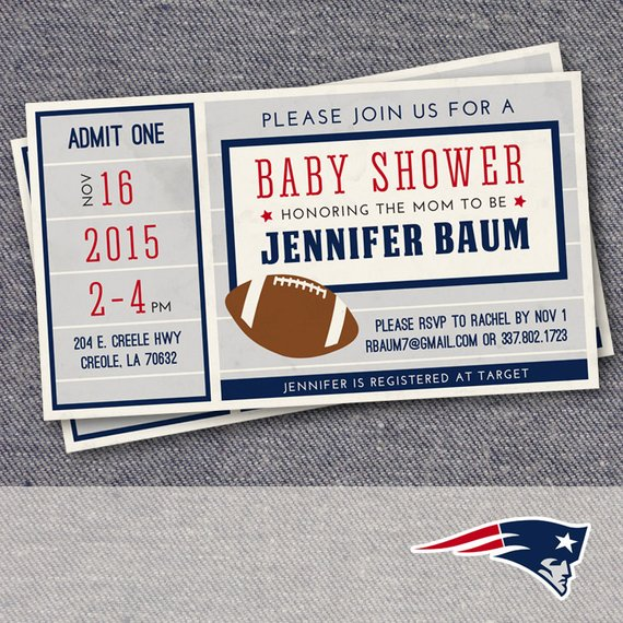 Football Baby Shower Invitation | CatchMyParty.com