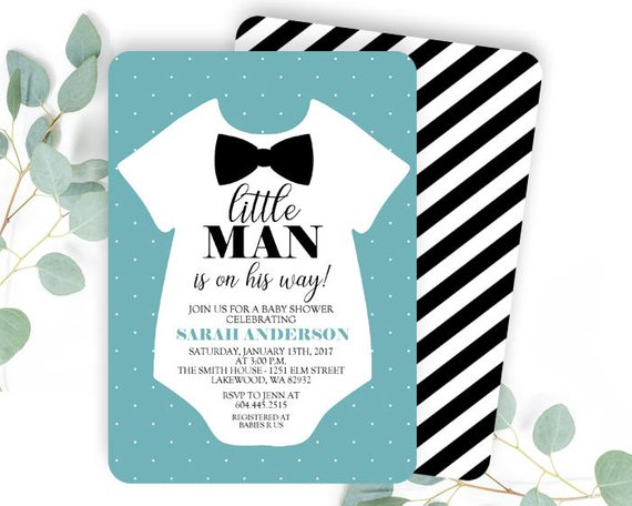 Little Man Baby Shower Invitation | CatchMyParty.com