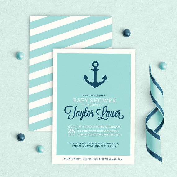 Nautical Baby Shower Invitation | CatchMyParty.com