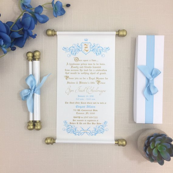 Prince Baby Shower Invitation | CatchMyParty.com