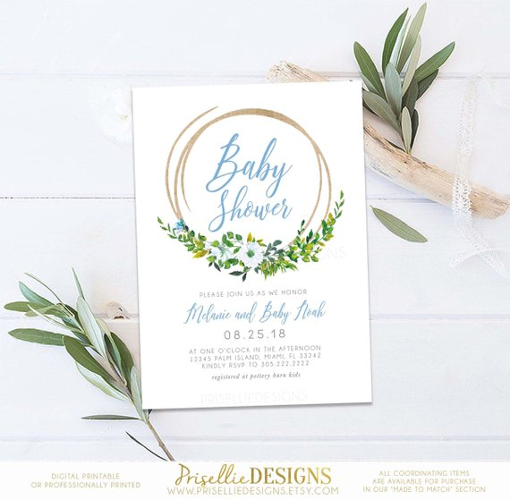 Rustic Baby Shower Invitation | CatchMyParty.com
