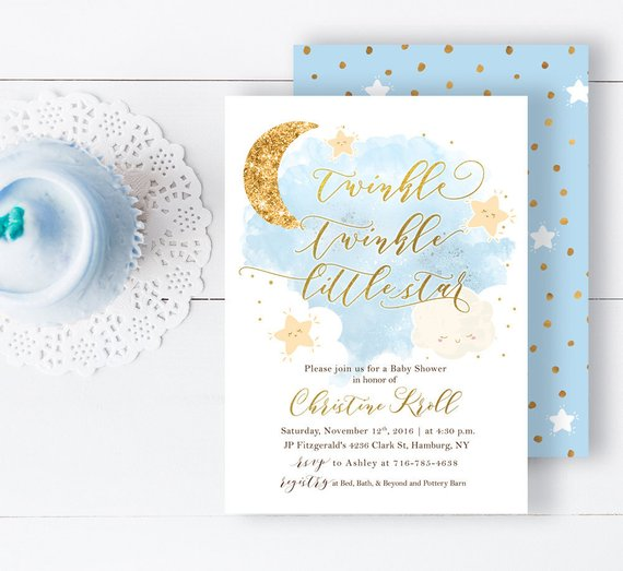 Star Baby Shower Invitation | CatchMyParty.com