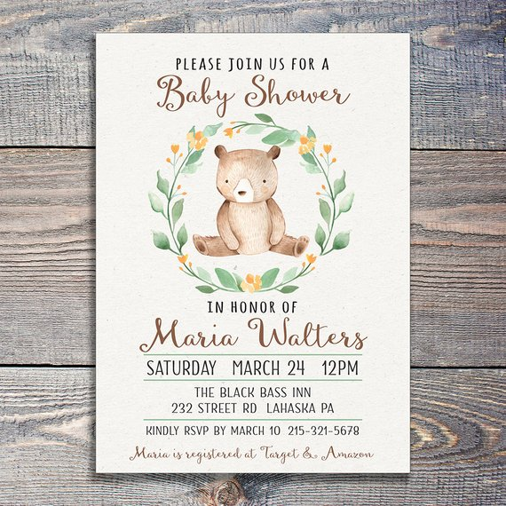 Teddy Bear Baby Shower Invitation | CatchMyParty.com