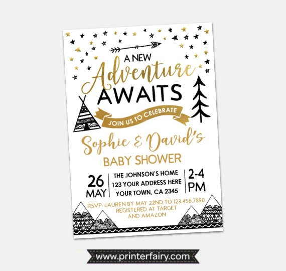 Boho Tribal Baby Shower Invitation | CatchMyParty.com