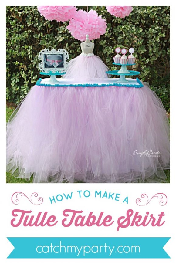 How to Make a Tulle Table Skirt | CatchMyParty.com