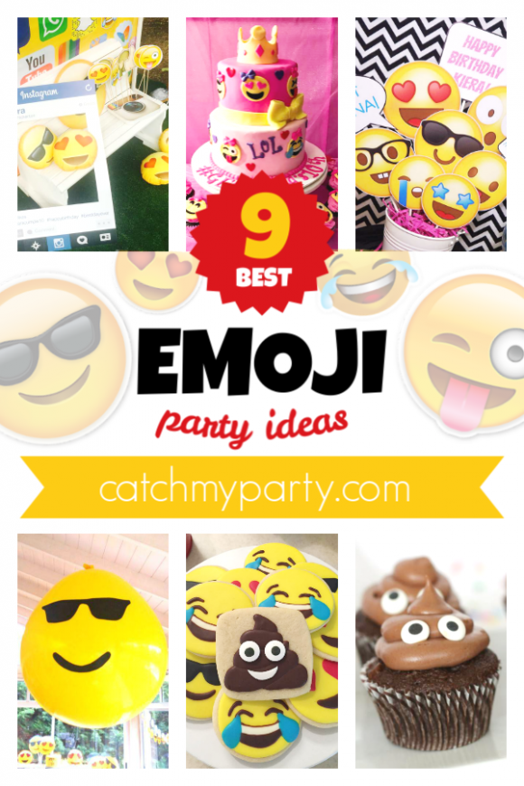 You're Gonna Love These 9 Awesome Emoji Party Ideas! | CatchMyparty.com