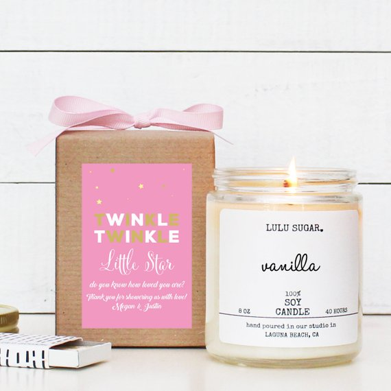 Baby Shower Party Favor - Candle | CatchMyParty.com