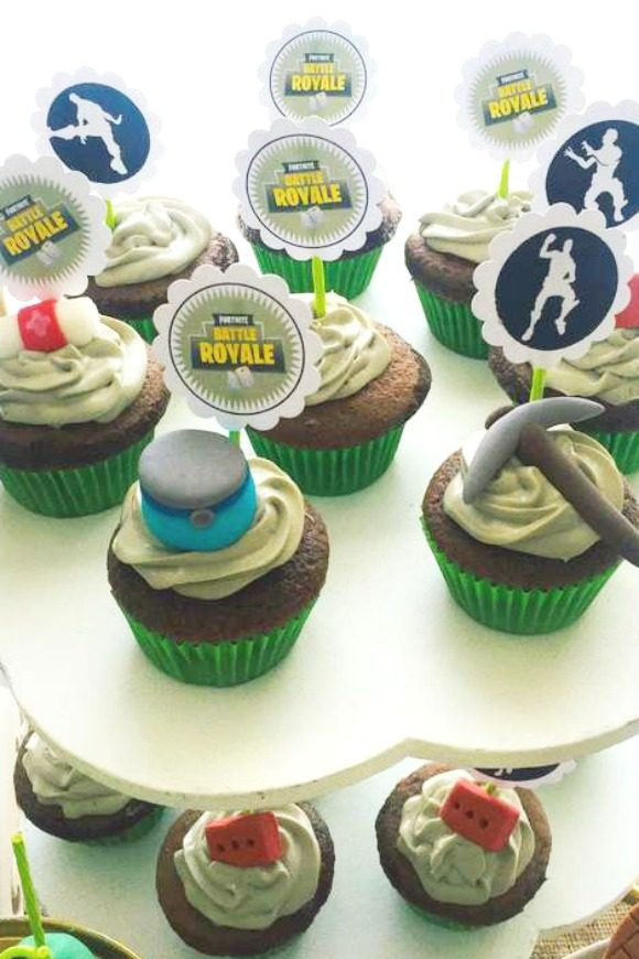 Fortnite Cupcakes | CatchMyParty.com