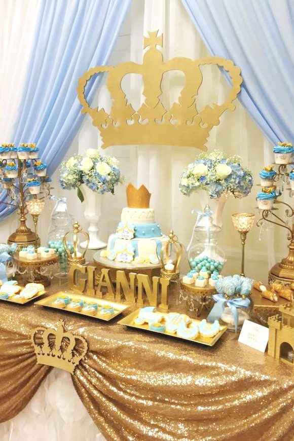 Prince Dessert Table | CatchMyParty.com