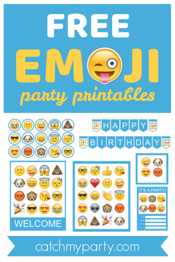 Free Emoji Party Printables for an Amazing Party! | CatchMyParty.com