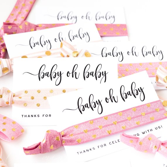 Baby Shower Party Favor - Hair Tie | CatchMyParty.com