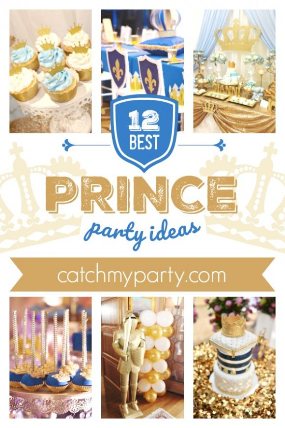 Be Blown Away by the 12 Most Elegant Prince Party Ideas! | CatchMyParty.com