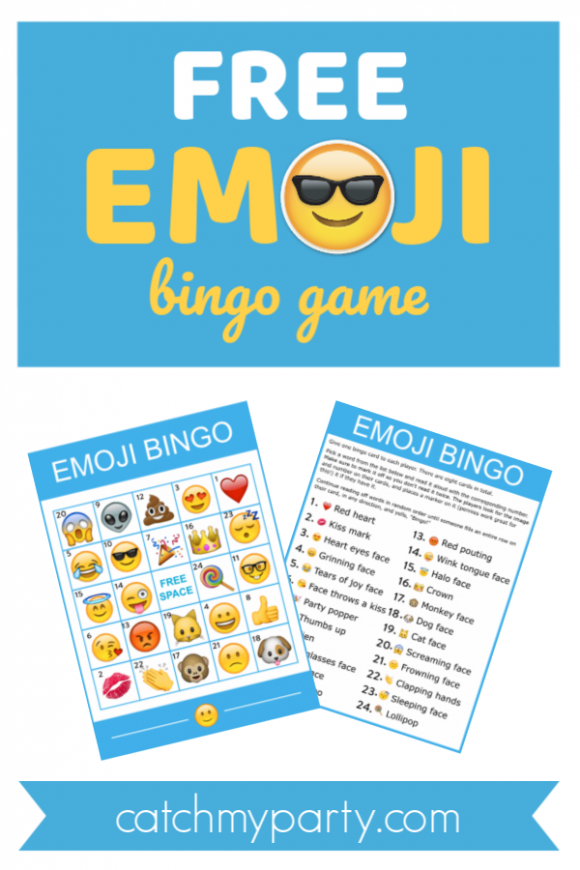 Download This Free Fantastic Printable Emoji Bingo Game! | Catch My