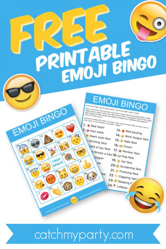 Download This Free Fantastic Printable Emoji Bingo Game!