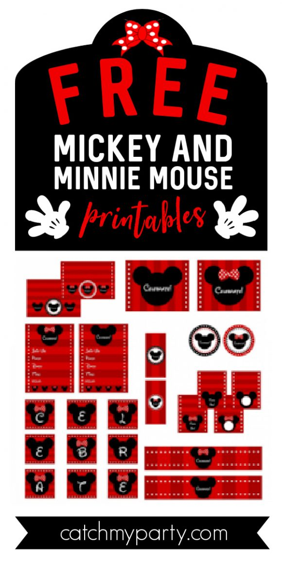 Collage of FREE Mickey & Minnie Mouse Printables to Download Now!