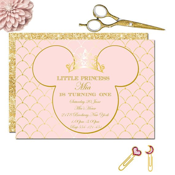 Minnie Mouse Princess Party Invitation