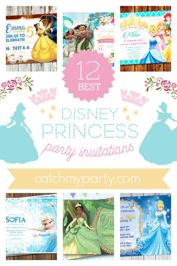 Fall in Love with These Disney Princess Party Invitations! | CatchMyParty.com