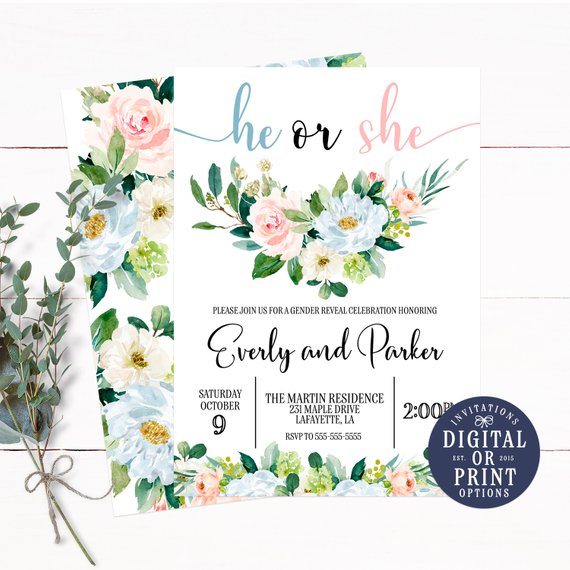 Rustic Gender Neutral Baby Shower Invitation | CatchMyParty.com