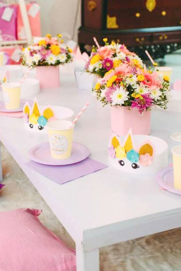 Unicorn 1st Birthday Party | CatchMyParty.com