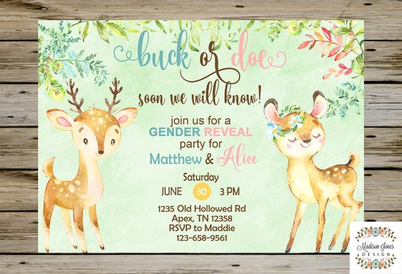 Gender Neutral Woodland Baby Shower Invitation | CatchMyParty.com