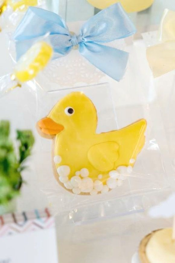 Rubber Duck sugar coated cookies