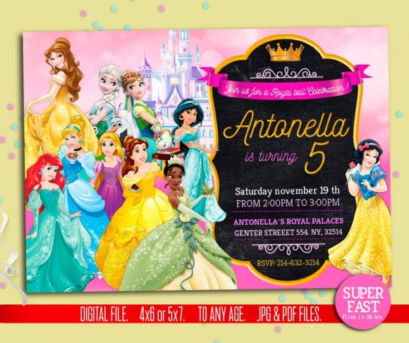 Disney Princess Party Invitation | CatchMyParty.com
