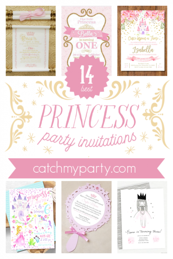 14 Pretty Princess Party Invitations