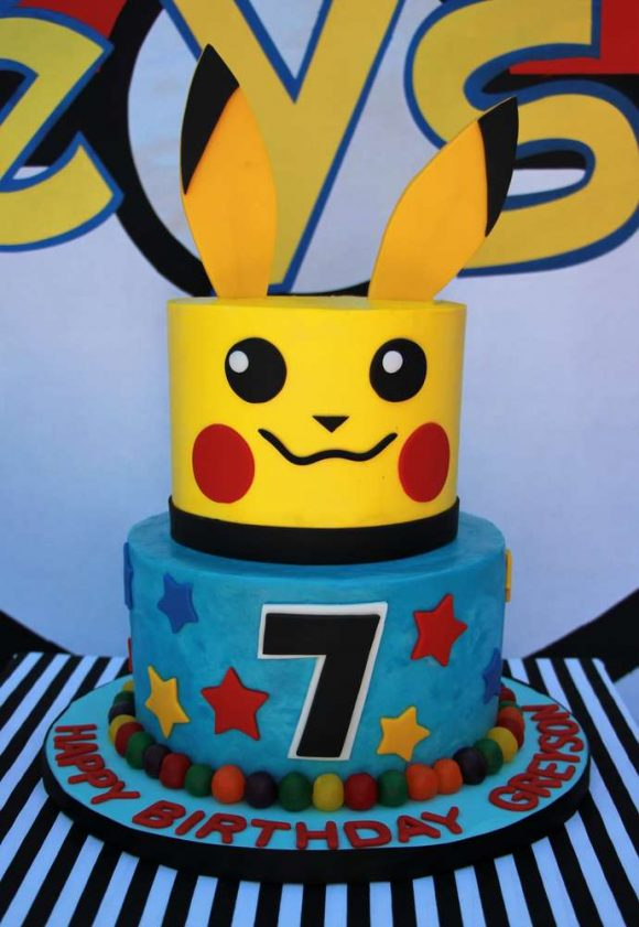 Peachy Look At The 10 Best Pokemon Go Cakes Catch My Party Personalised Birthday Cards Bromeletsinfo