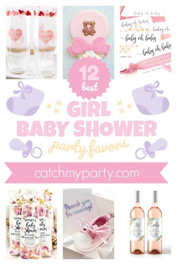 The 12 Most Gorgeous Girl Baby Shower Party Favors