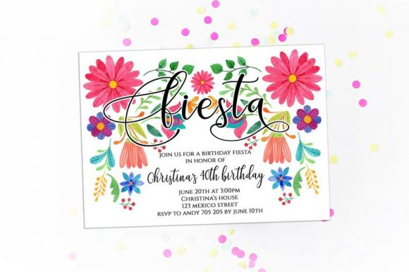 40th Fiesta Party Invitation