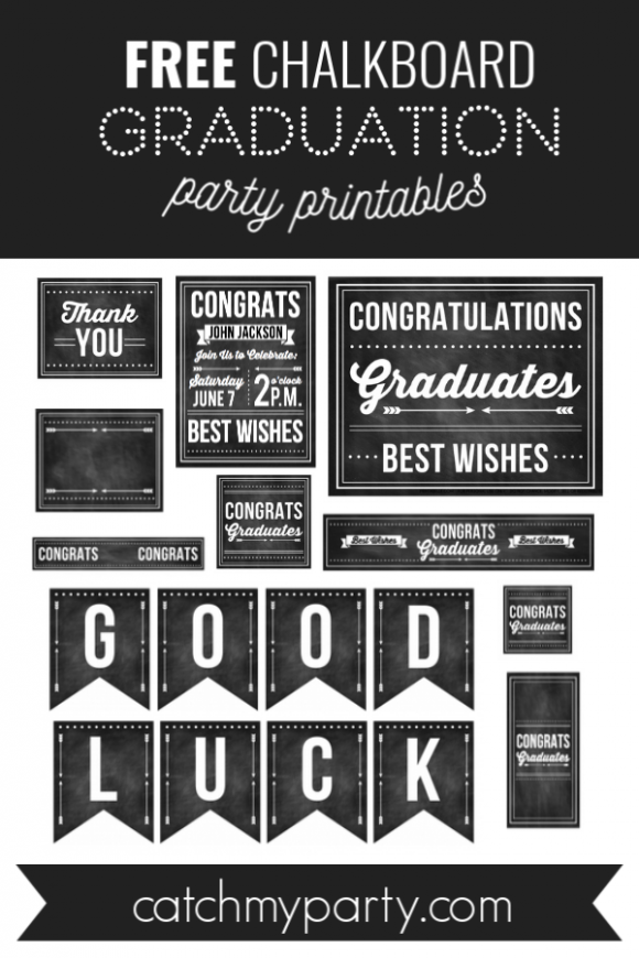 Download These Free Graduation Chalkboard Party Printables!