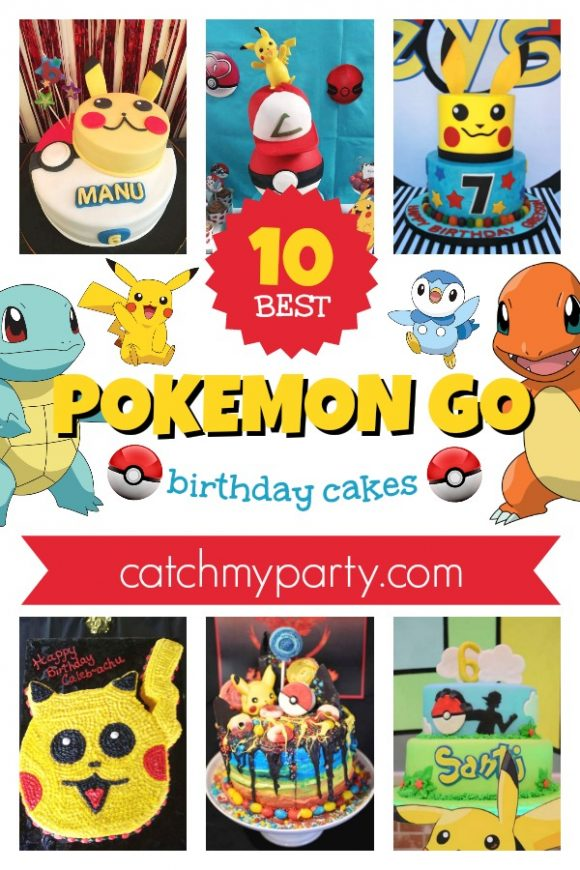 10 Best Pokemon Go Birthday Cakes