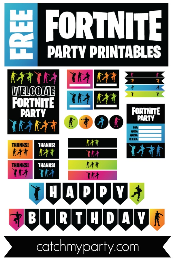 Download these FREE Fortnite Printables!