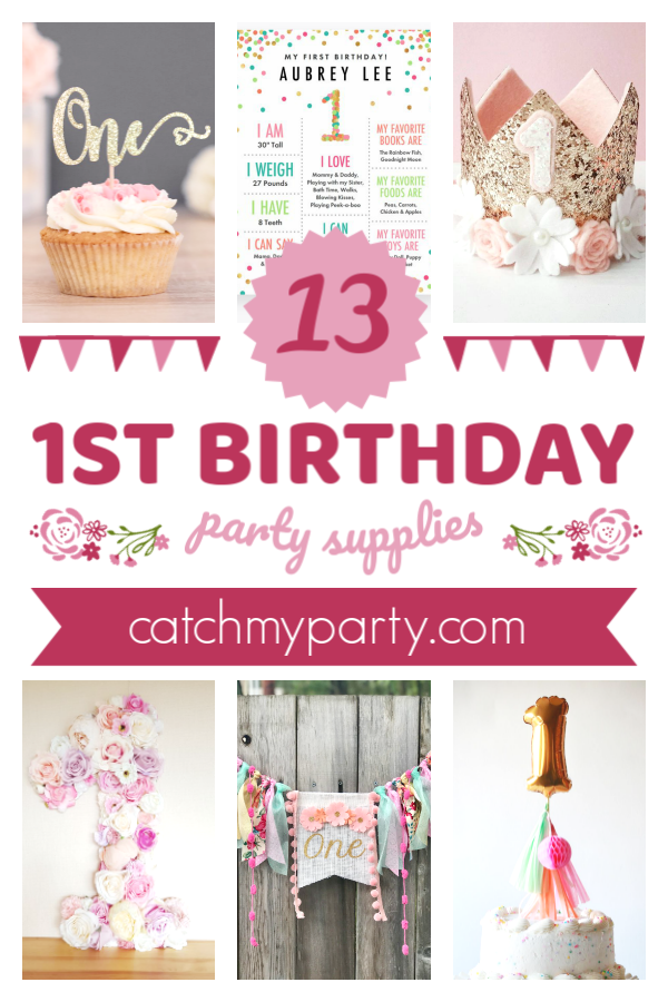 The Most Perfect Girl 1st Birthday Party Supplies