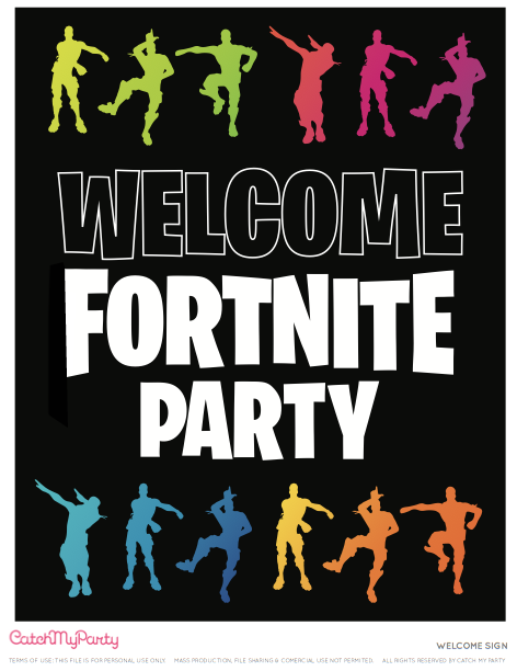 FREE Fortnite Printables - Fortnite Welcome Poster