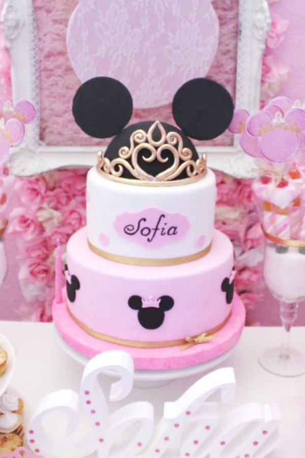 Princess Minnie Mouse Birthday Cake