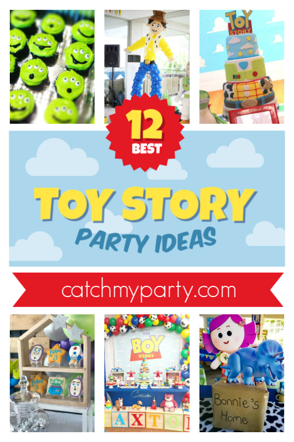 Collage of the 12 best Toy Story party ideas!