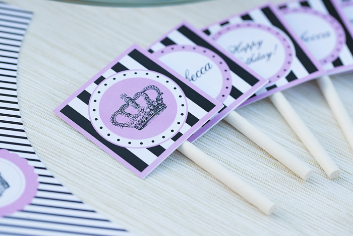 Free Editable Princess Party Printables - Lovely Princess Cupcake Toppers
